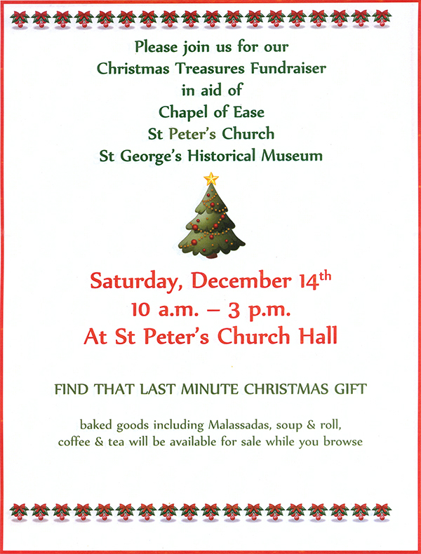Christmas Fundraiser In St George's Bermuda Dec 2019