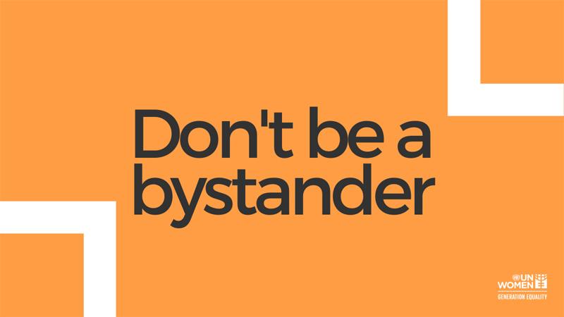 Dont be a bystander December 2019