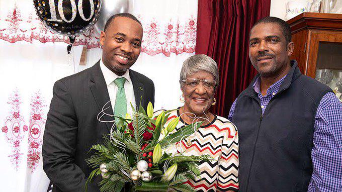 Grace Woodley 100th Birthday Bermuda Dec 2019