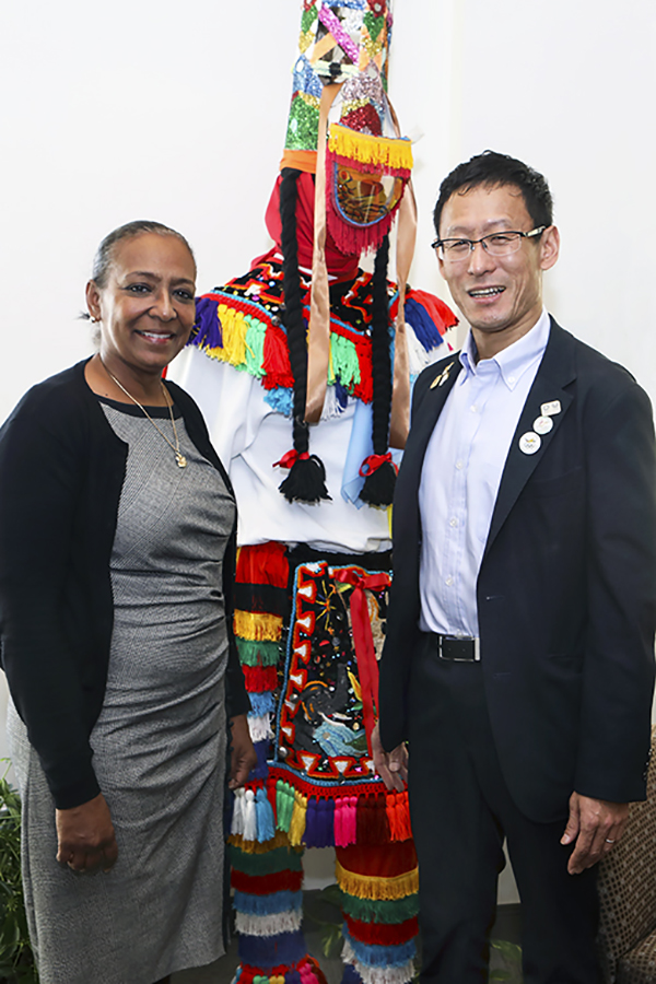 Minister Lovitta Foggo with Mr. Toshihiro Hayashi Bermuda Dec 9 2019 (2)