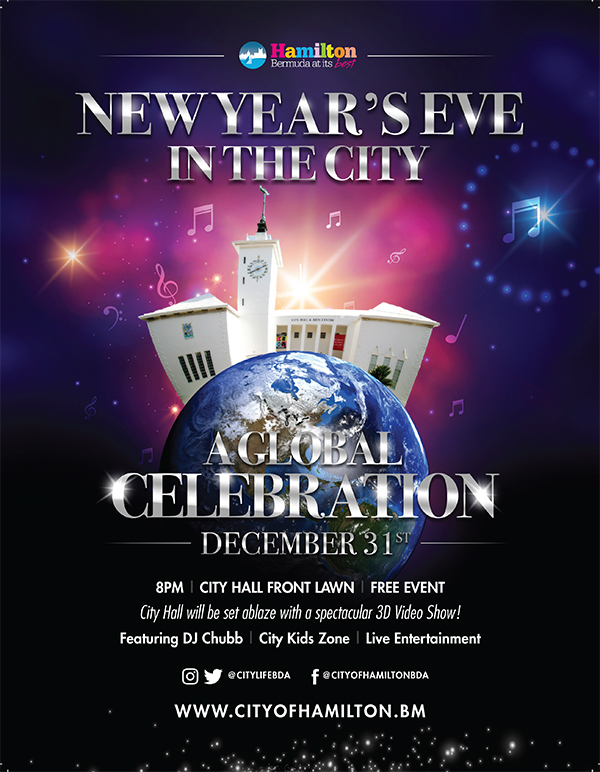 NYE Celebration City Of Hamilton Bermuda Dec 2019
