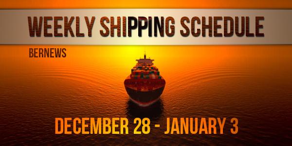 Weekly Shipping Schedule TC Dec 28 - Jan 3 2019