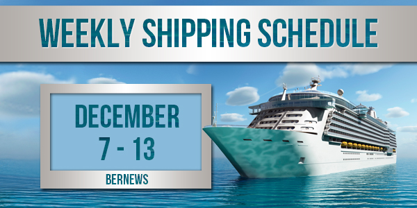 Weekly Shipping Schedule TC Dec 7 - 13 2019