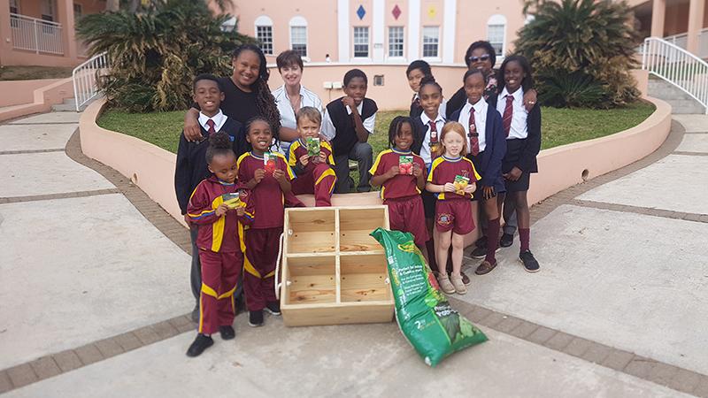 AG Show Donates One-Square-Foot Gardens Bermuda Jan 2020 (3)