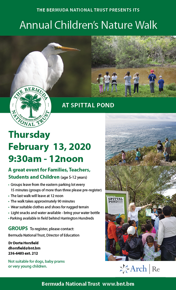 Annual Children's Nature Walk Bermuda Jan 2020