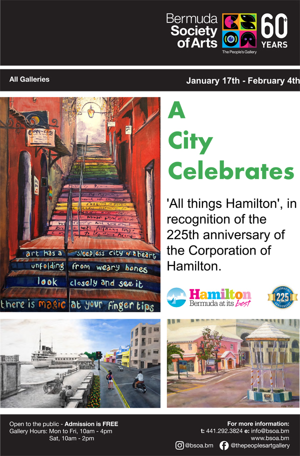 Art Exhibition Celebrates City's 225th Anniversary Bermuda Jan 2020