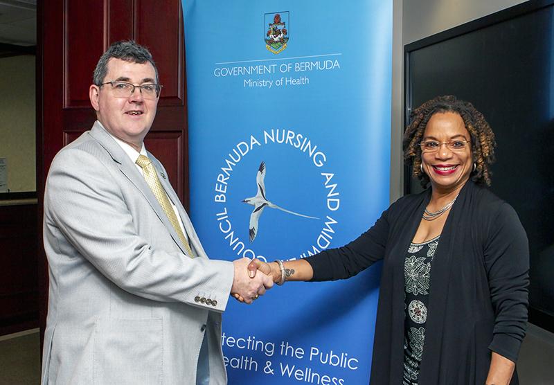 Dr David Charles Benton & Minister Kim Wilson Bermuda Jan 2020
