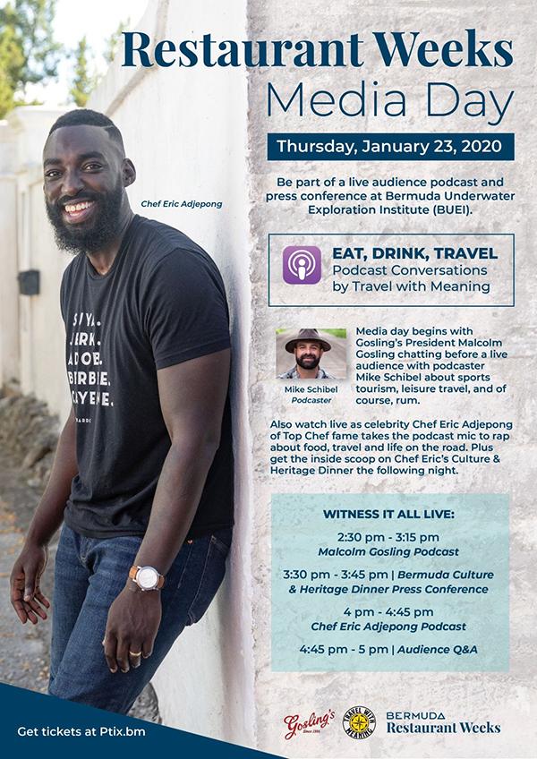 Restaurant Weeks Media Day Bermuda Jan 2020