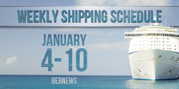 Weekly Shipping Schedule TC Jan 4 - 10 2020