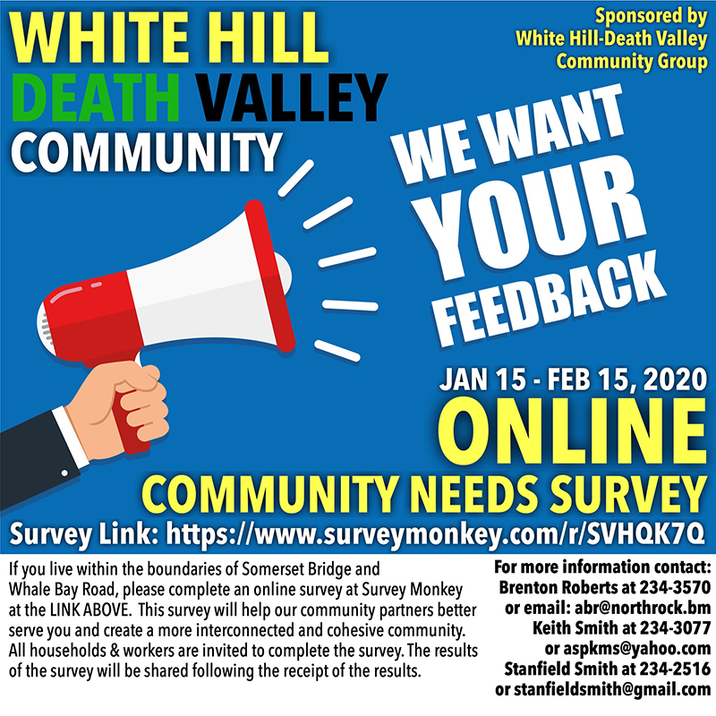 White Hill & Death Valley Community Survey Bermuda Jan 2020
