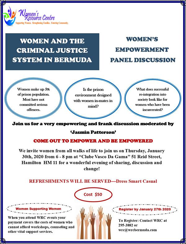 Womens Empowerment Panel Discussion Bermuda Jan 2020