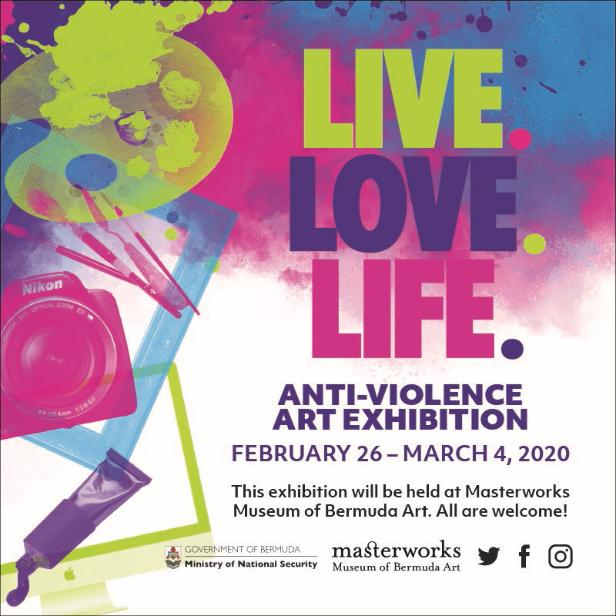 Anti Violence Art Exhibition Bermuda Feb 2020