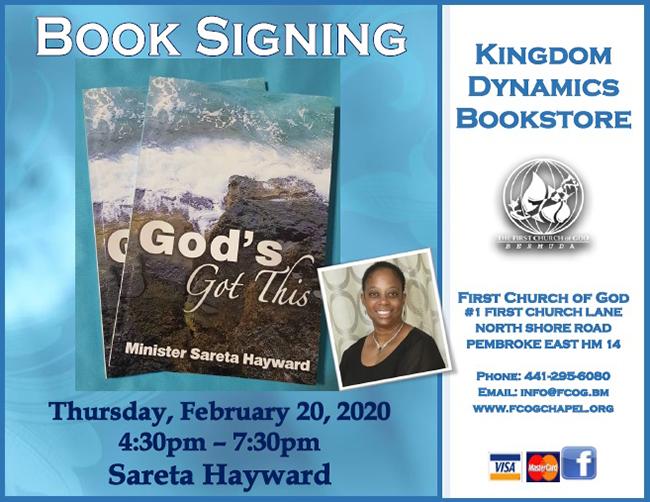 Book Signing  Sareta Hayward Bermuda Feb 2020