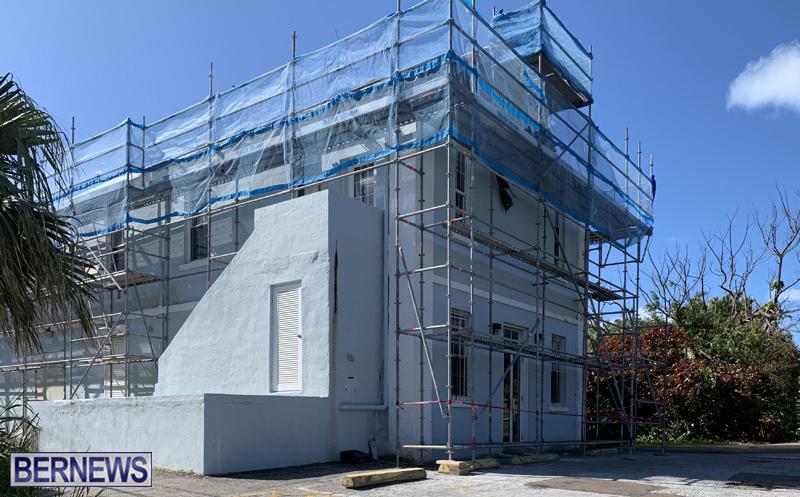 Building-getting-repaired-after-Humberto-Bermuda-Feb-2020-2
