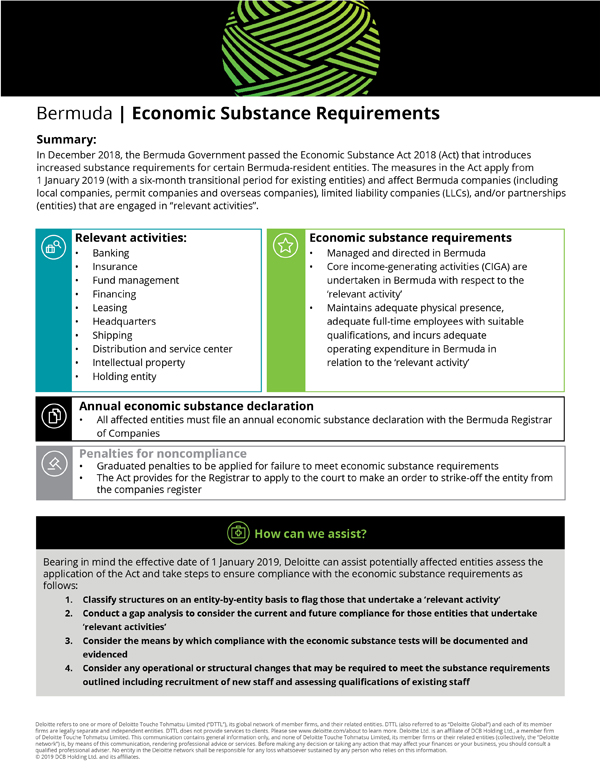 Deloitte Bermuda Budget Snapshot 2019 (2)