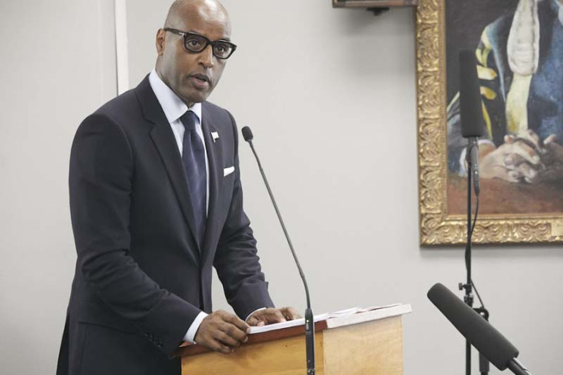 Minister Dickinson Delivers Budget Bermuda Feb 2020 (1)