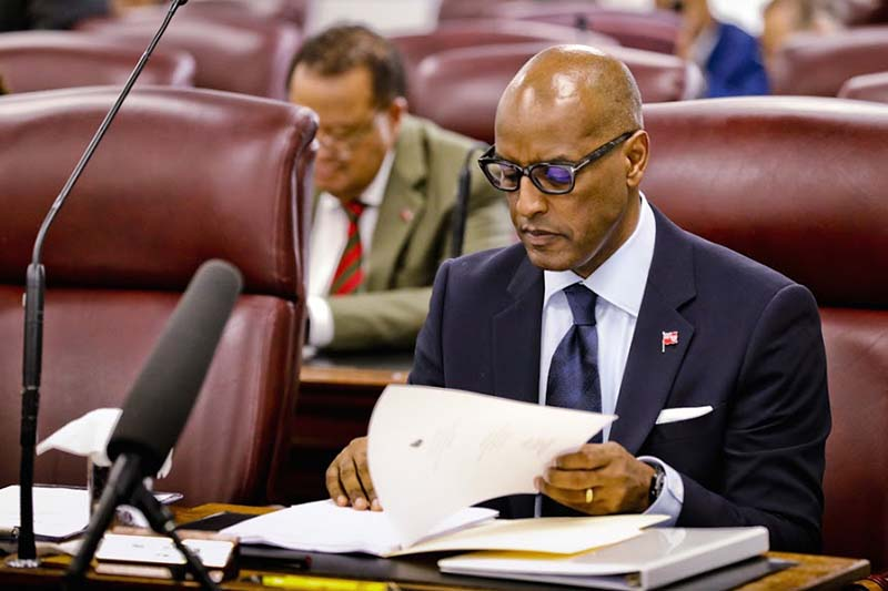Minister Dickinson Delivers Budget Bermuda Feb 2020 (2)