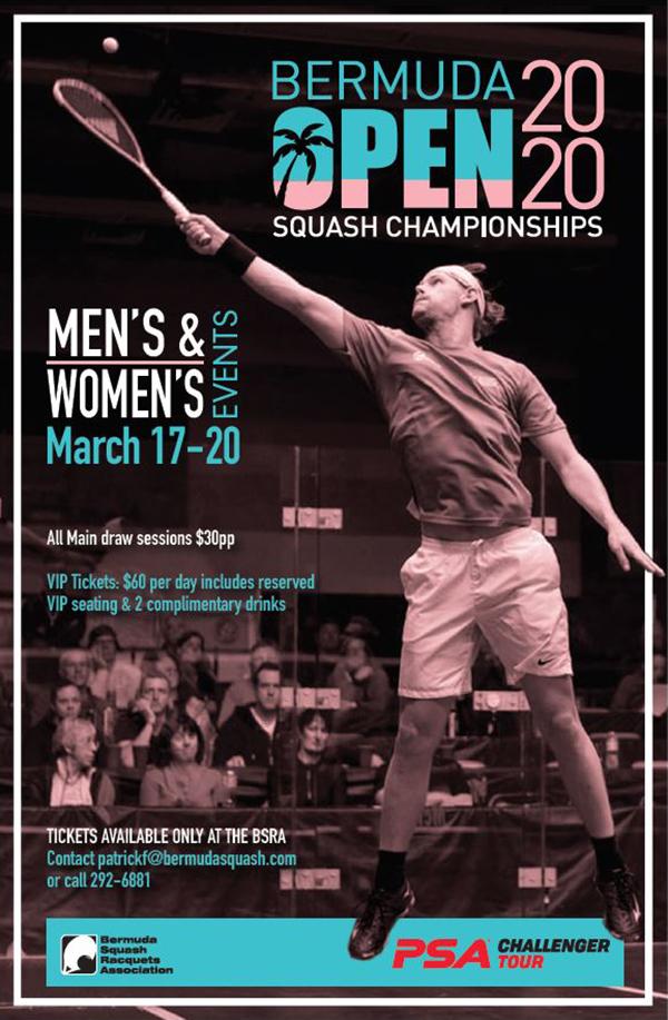 Pro Squash World Tour Bermuda Feb 2020