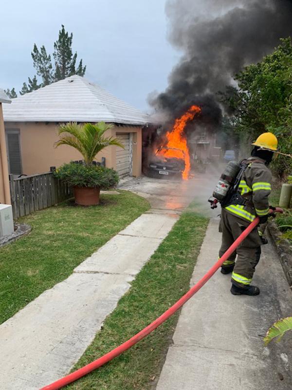 Vehicle Fire In Smiths Parish Bermuda Feb 2020
