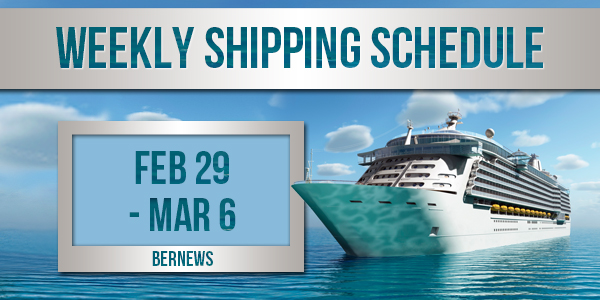 Weekly Shipping Schedule TC Feb 29 - Mar 6 2020