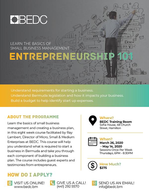 Entrepreneurship 101 Bermuda March 2020