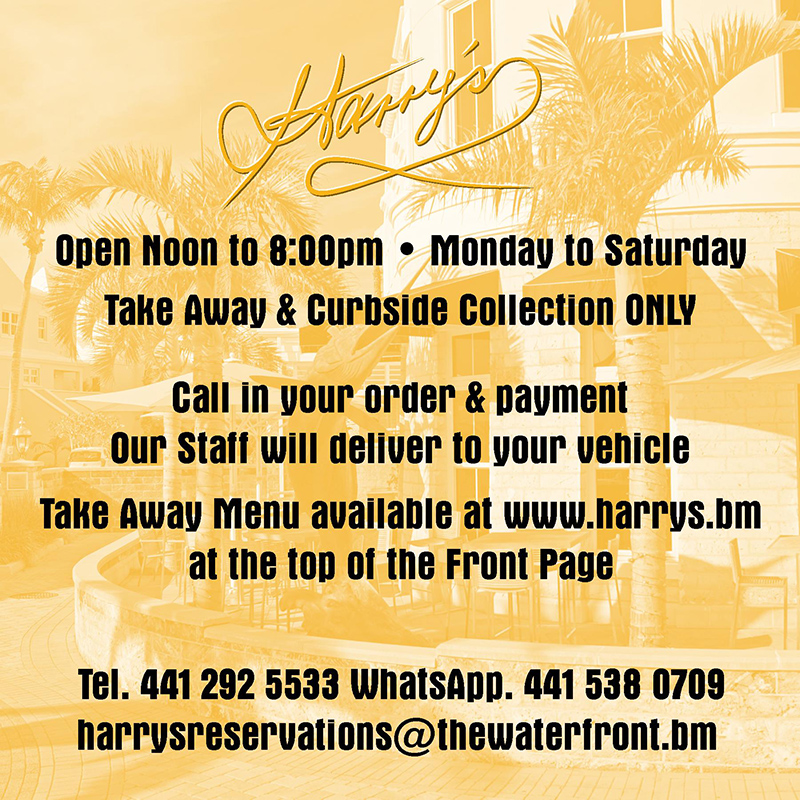 Harrys Curbside Bermuda March 2020