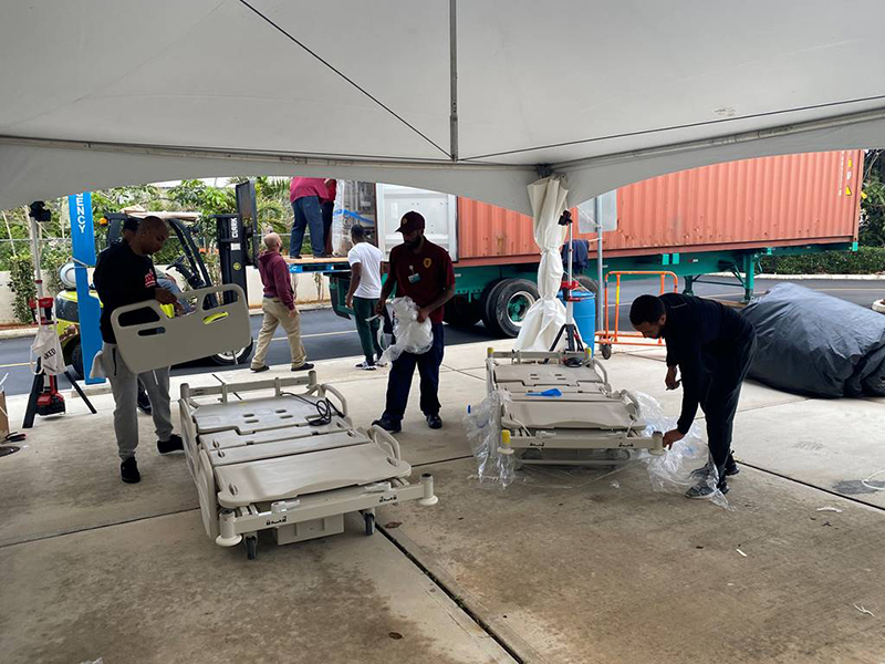 New Beds Arrive At KEMH Bermuda March 2020 (1)