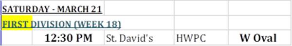 St Davids & HPWC Match Bermuda March 2020