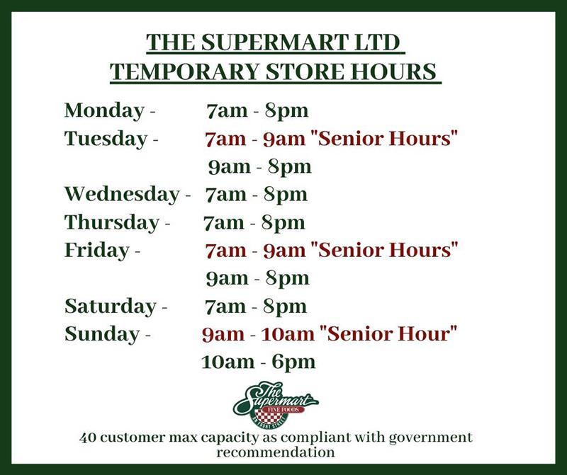 The Supermart Ltd Bermuda March 2020
