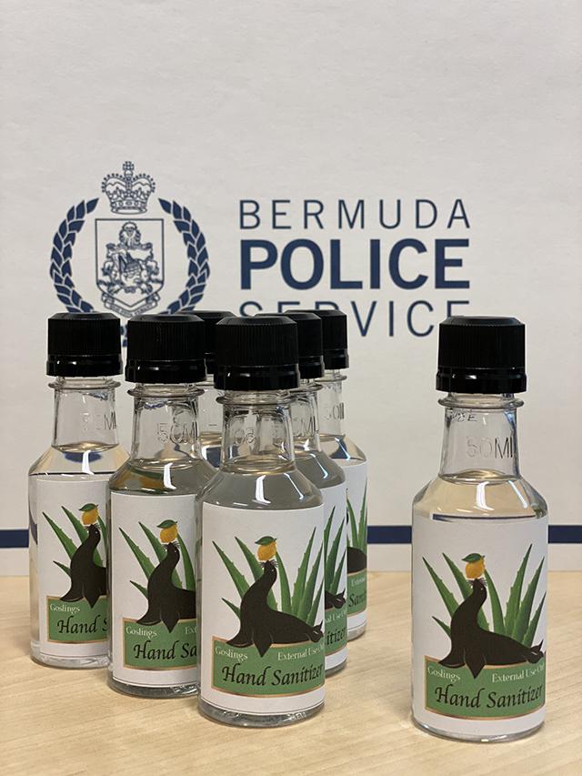 Gosling's Limited Hand Sanitizer Bermuda April 2020