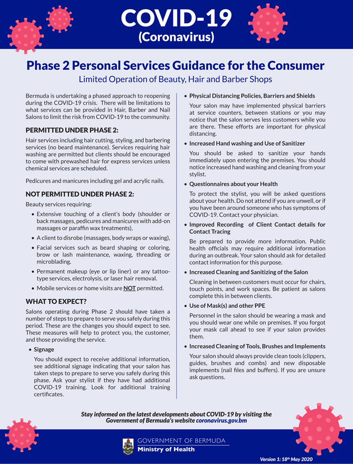 Phase-2 Personal Services Guidance for the Consumer