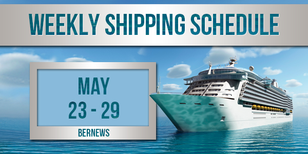 Weekly Shipping Schedule TC May 23 - 29 2020
