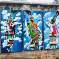 Gombey Mural By Alshante Foggo On Till's Hill