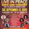 Live In Peace Expo & Concert On Sept 12