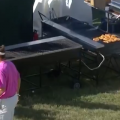 Video: Rafael Campos Shot Lands Under BBQ