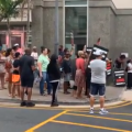 Videos: People Outside Of Press Conference