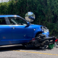 Rider Recovering After Collision In Smith's