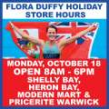 MarketPlace's Flora Duffy Holiday Store Hours