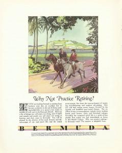 Bermuda tourism ad 1931