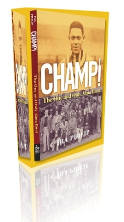 "Cover of ""Champ! The One and Only Alama Hunt"", by Ira Phillips which is available at various local bookstores."