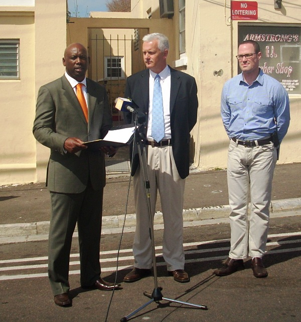 L to R: Acting Commissioner Mike Jackman, Deputy Acting Commissioner Paul Wright, Chief Inspector Nicholas Pedro