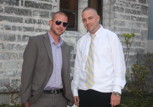 Colin Harper [Collie Buddz] on left, Matthew Harper on right