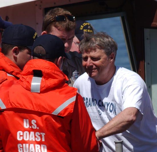 Photo provided by the Coast Guard of First Mate Lochlin Reidy post rescue
