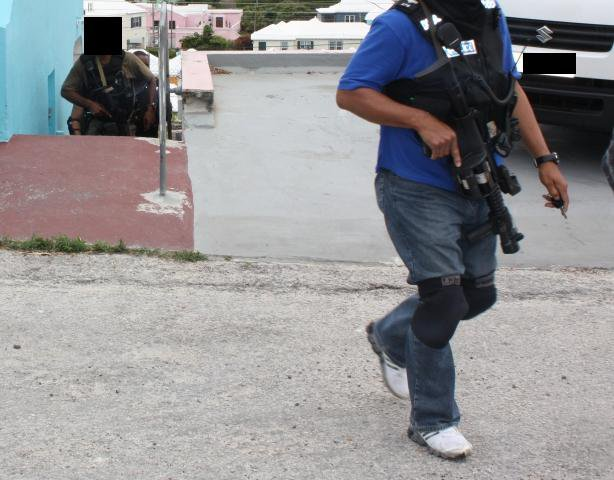 Armed Police conducting a raid in Pembroke - May 2010