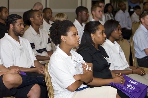 L-R (Front Row) - Current TLF Interns Ricketta Warner, Desirae Eve and Nadiyah Brown