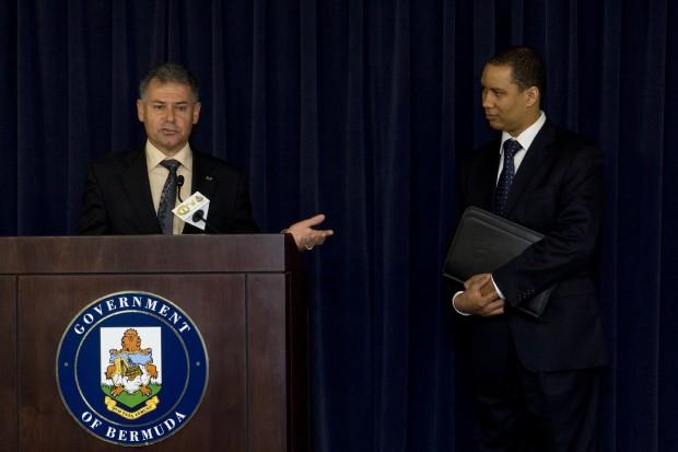 Minister De Silva and Collin Anderson