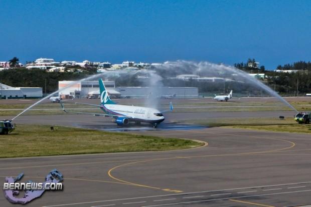 Airtran Inaugural Flight LF Wade International Airport  Bermuda April 7 2011-1