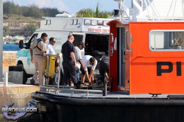 Injured Crewmember Green Lake Pilot Boat St. George Bermuda June 29 2011 - 1_wm