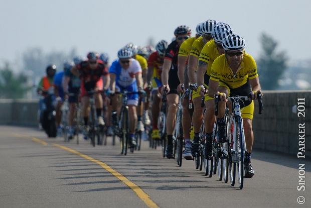 Neil de Ste Croix and Bicycle Works Teammates lead Open Male Race