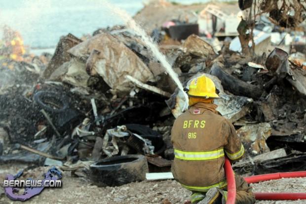 Airport Dump Fire Bermuda July 30 2011